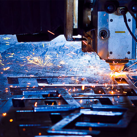 laser cutting and fabrication of metal products